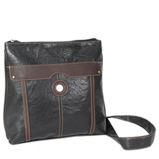 Mouflon Essentials Black/Brown PVC Crossbody Handbag