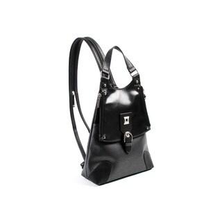 Joanel Black Convertible Satchel Handbag Backpack