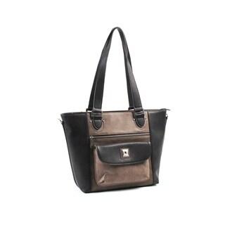 Joanel Black/Brown Tote Bag
