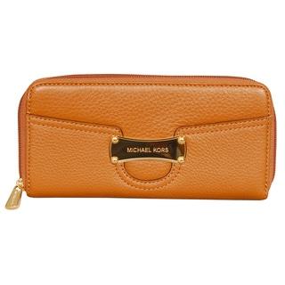 Michael Kors Saratoga Luggage Zip Around Continental Wallet