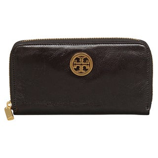 Tory Burch Veg Tan Leather Zip Continental Wallet