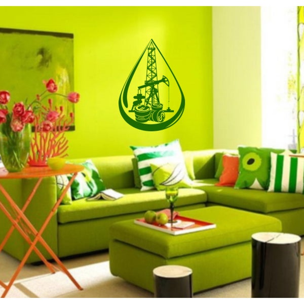 A drop money dollars Euro coins Wall Art Sticker Decal Green