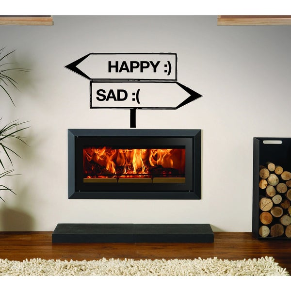 Pointer happy sad Wall Art Sticker Decal