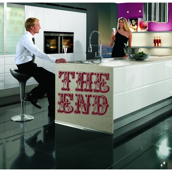 Closing time the end Wall Art Sticker Decal Red