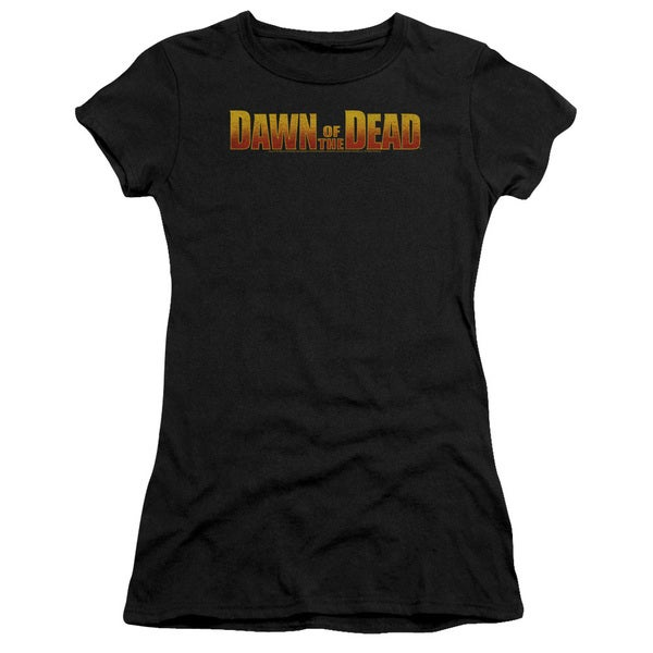 Dawn Of The Dead/Dawn Logo Junior Sheer in Black