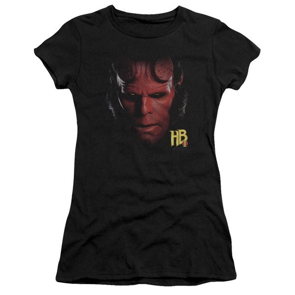 Hellboy Ii/Hellboy Head Junior Sheer in Black