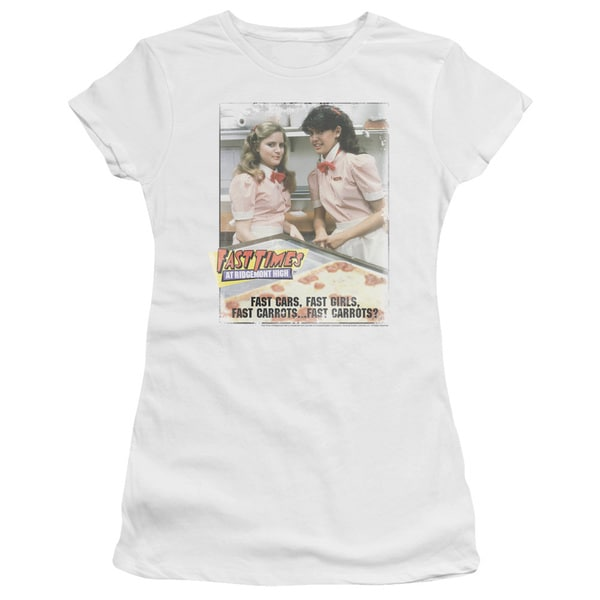 Fast Times Ridgemont High/Fast Carrots Junior Sheer in White