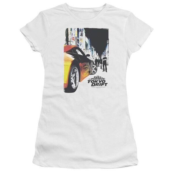 Tokyo Drift/Poster Junior Sheer in White
