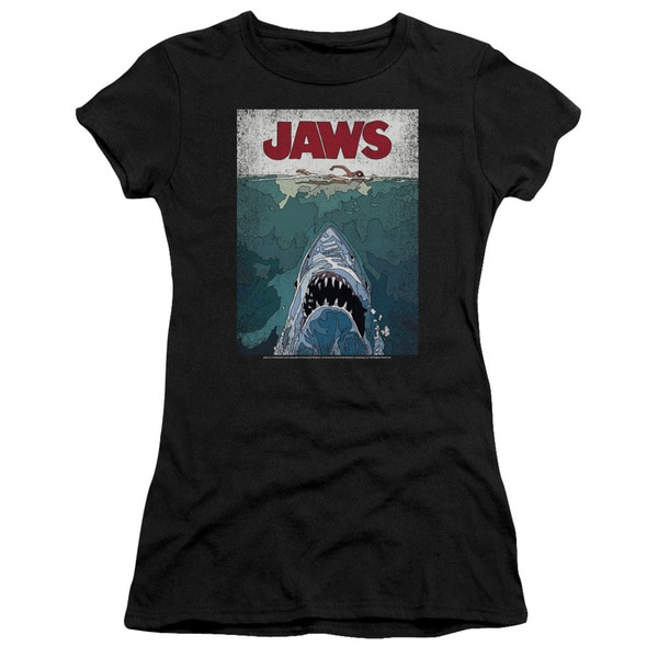Jaws/Lined Poster Junior Sheer in Black