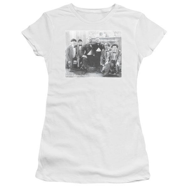 Three Stooges/Hello Junior Sheer in White