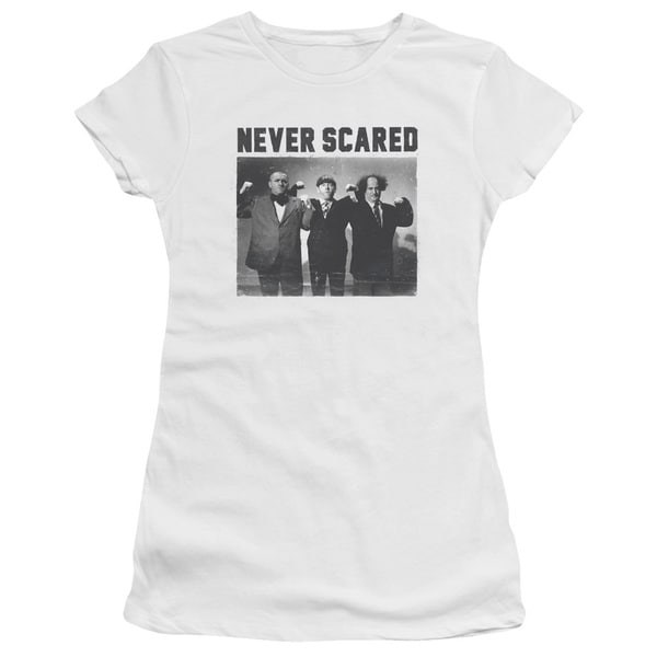 Three Stooges/Never Scared Junior Sheer in White