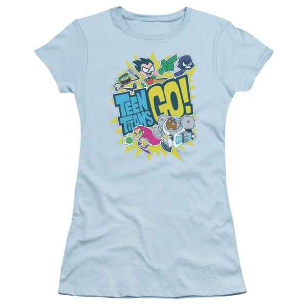 Teen Titans Go/Go Junior Sheer in Light Blue