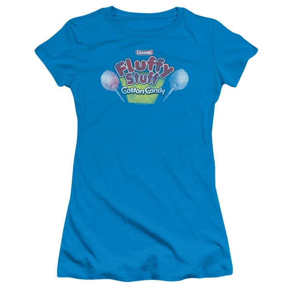 Tootsie Roll/Fluffy Stuff Logo Junior Sheer in Turquoise