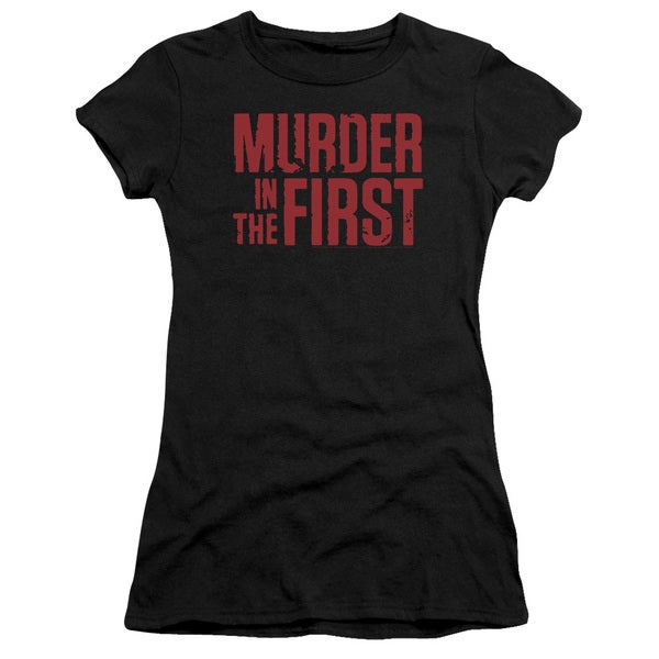 Murder in The Frist/Stacked Logo Junior Sheer in Black