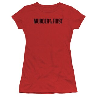 Murder in The First/Logo Junior Sheer in Red