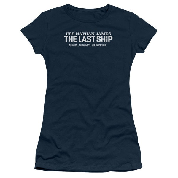 Last Ship/Find The Cure Junior Sheer in Navy