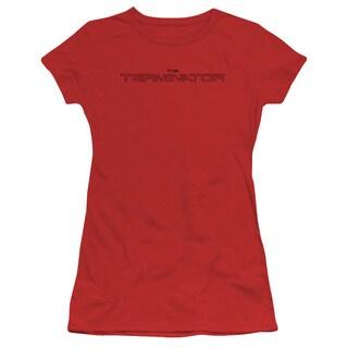 Terminator/Logo Outline Junior Sheer in Red