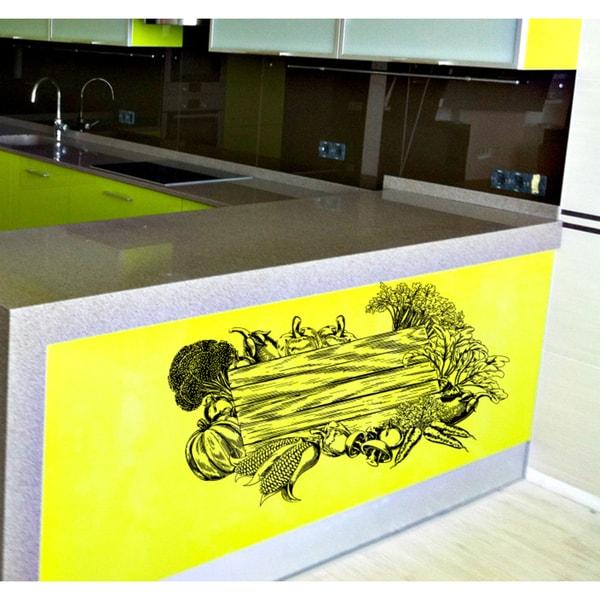 Kitchen vegetables fruit still life Wall Art Sticker Decal