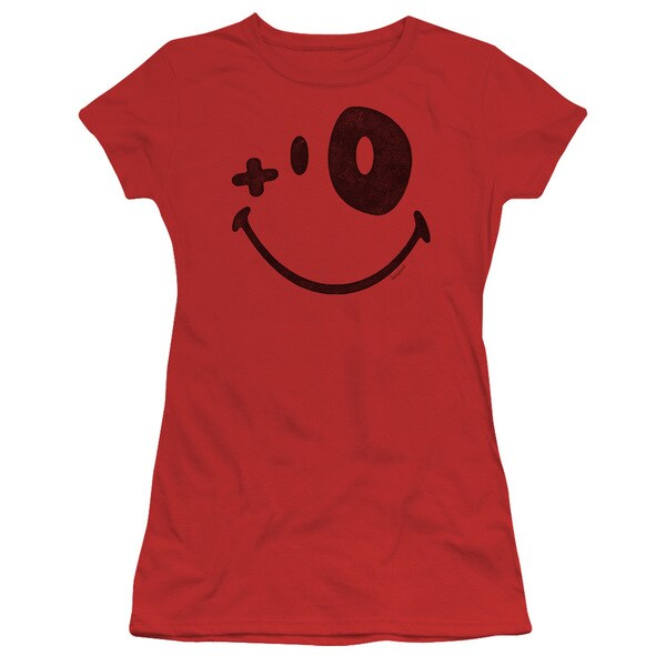 Smiley World/Fight Club Junior Sheer in Red in Red