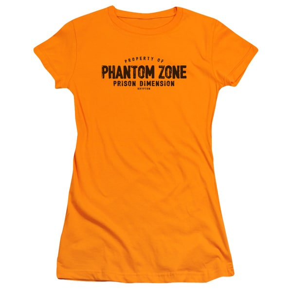 Superman/Phantom Zone Junior Sheer in Orange in Orange