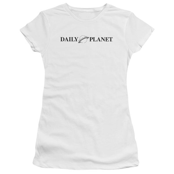 Superman/Daily Planet Logo Junior Sheer in White in White
