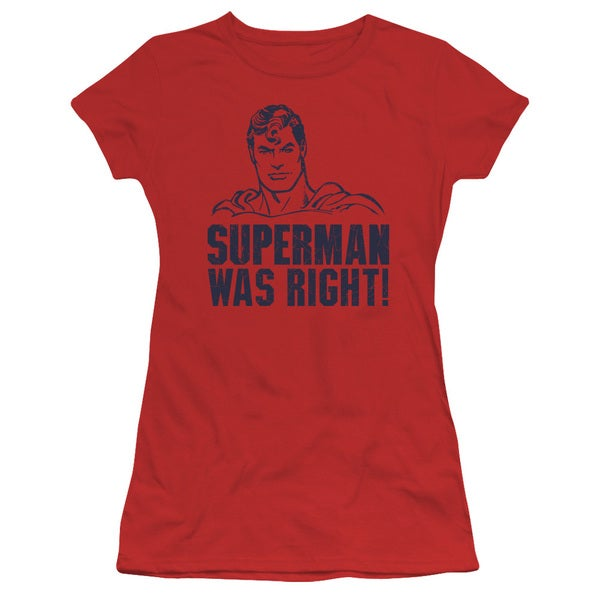 Superman/Was Right Junior Sheer in Red