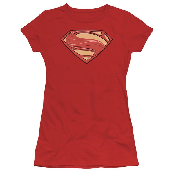Man Of Steel/New Solid Shield Junior Sheer in Red