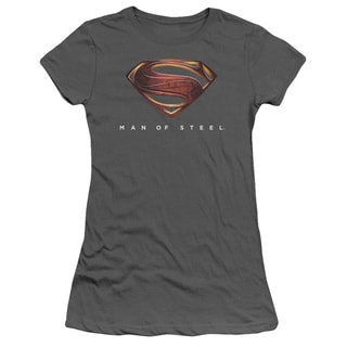 Man Of Steel/Mos New Logo Junior Sheer in Charcoal