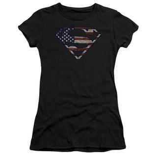 Superman/Wartorn Flag Junior Sheer in Black
