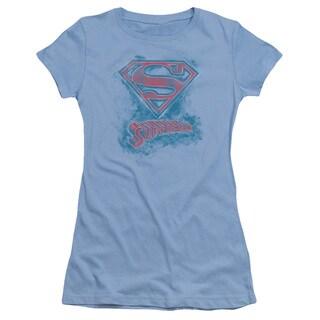 Superman/Its Sketchy Junior Sheer in Carolina Blue