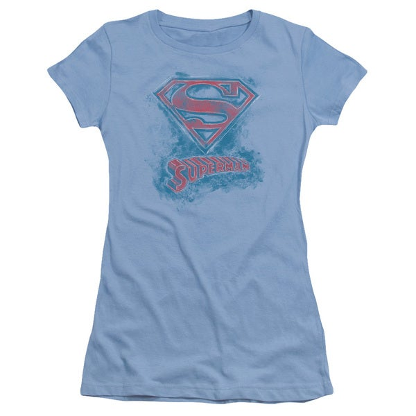 Superman/Its Sketchy Junior Sheer in Carolina Blue