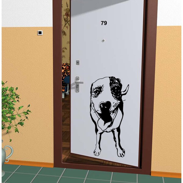 Dog puppy Kids Room Wall Art Sticker Decal