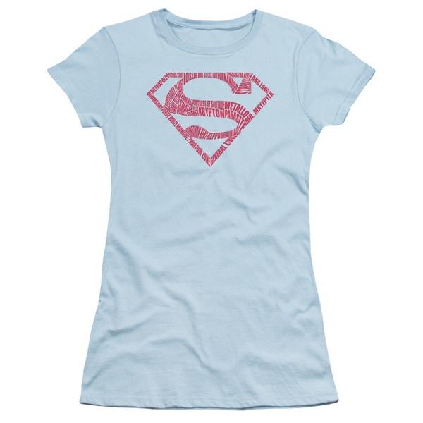 Superman/ Word Shield Junior Sheer in Light Blue