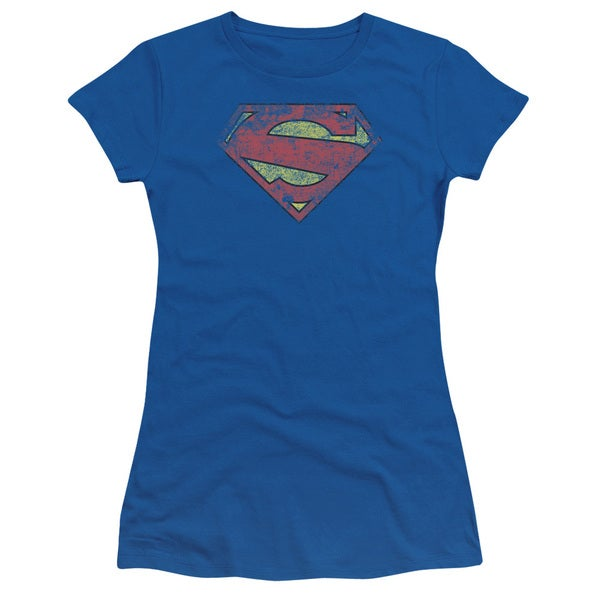 Superman/New 52 Shield Junior Sheer in Royal Blue