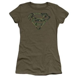 Superman/Marine Camo Shield Junior Sheer in Military Green