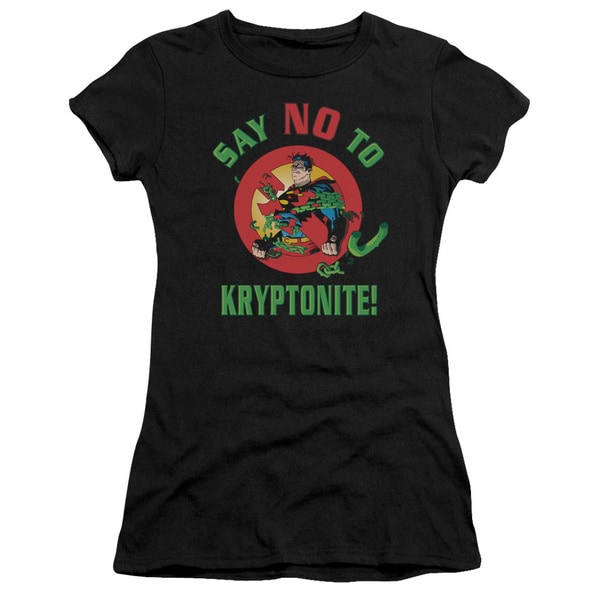 Superman/Say No To Kryptonite Junior Sheer in Black