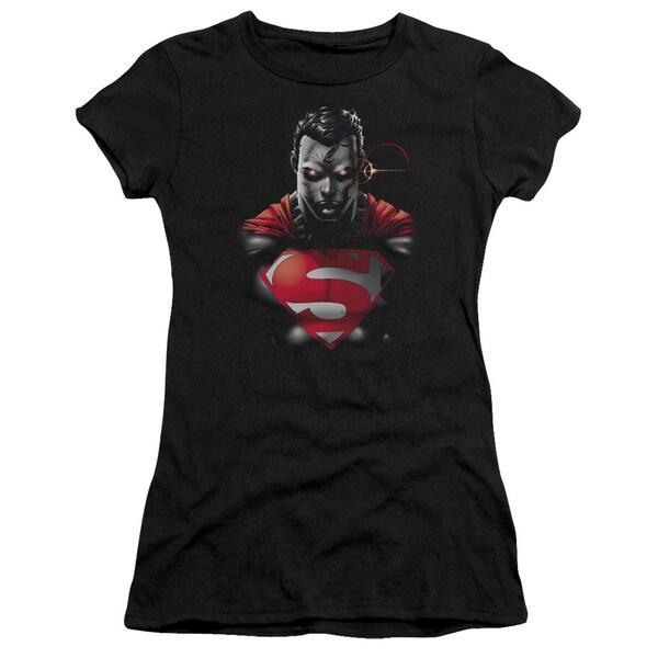 Superman/Heat Vision Charged Junior Sheer in Black