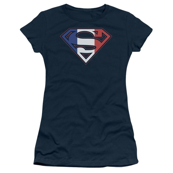 Superman/French Shield Junior Sheer in Navy