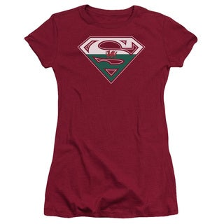 Superman/Welsh Shield Junior Sheer in Cardinal