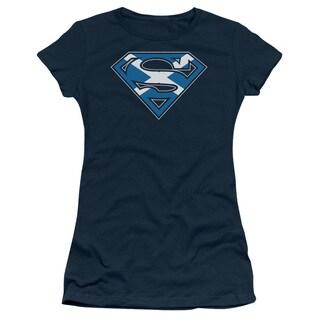 Superman/Scottish Shield Junior Sheer in Navy