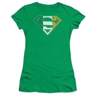 Superman/Irish Shield Junior Sheer in Kelly Green