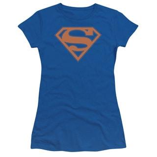 Superman/Blue & Orange Shield Junior Sheer in Royal Blue