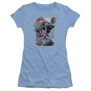 Superman/Pick Up My Truck Junior Sheer in Carolina Blue
