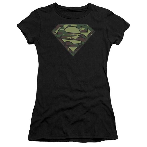 Superman/Camo Logo Junior Sheer in Black