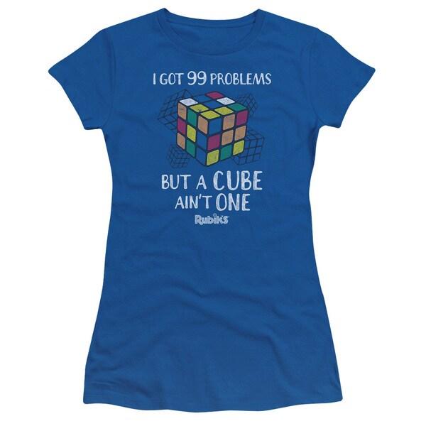 Rubik's Cube/99 Problems Junior Sheer in Royal in Royal Blue