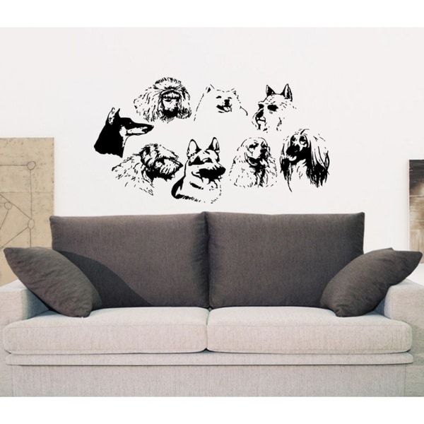 Different breeds of dogs Puppy Wall Art Sticker Decal