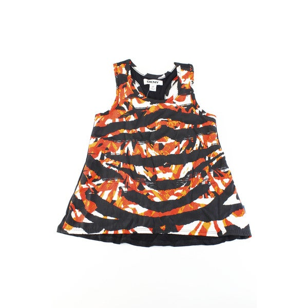 DKNY Girls' Black Rayon/Spandex/Polyester Sleeveless Baby 2T T-shirt