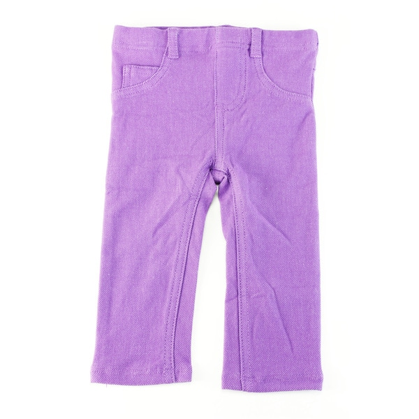 First Impressions Girls' Purple Cotton 12 Months Baby Pants