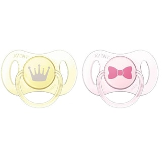 Philips Avent Bow/Crown Pack of Two 0-2 Months Newborn Soother