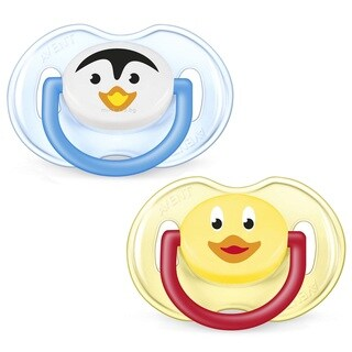 Philips Avent Plastic Penguin and Duck Classic Animal Soothers (Pack of 2)